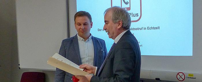 v.l. Manuel Eckert und Martin Gorholt.