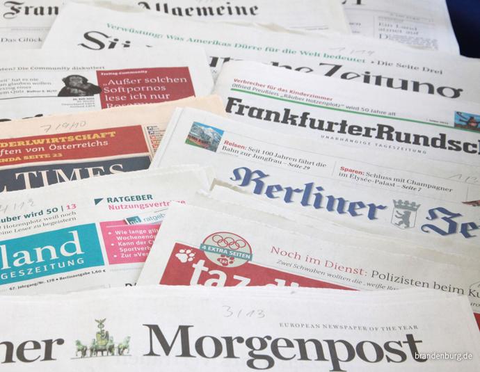 Zeitungen, Foto: brandenburg.de