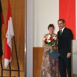 Ministerpräsident a.D. Matthias Platzeck mit Anette Flade