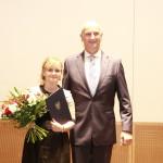 Ministerpräsident Dietmar Woidke mit Anne Panek-Kusz