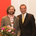 Ministerpräsident a.D. Matthias Platzeck mit Benedikt Schirge