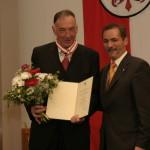 Ministerpräsident a.D. Matthias Platzeck mit Bernd Schröder