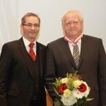 Ministerpräsident a.D. Matthias Platzeck mit Bernd Siegert