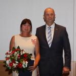 Ministerpräsident Dietmar Woidke mit Birgit Fischer