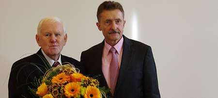 Verleihung Bundesverdienstkreuz an Günter Ludwig (li), Foto MIK