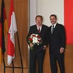 Ministerpräsident a.D. Matthias Platzeck mit Carl Gottfried Rischke