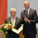 Landesordensträger Dieter Kestin mit Ministerpräsident Dietmar Woidke, Foto Oliver Lang