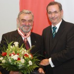Ministerpräsident a.D. Matthias Platzeck mit Erwin Kowalke