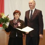 Ministerpräsident Dietmar Woidke mit Äbtissin Dr. Friederike Rupprecht
