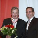 Ministerpräsident a.D. Matthias Platzeck mit Prof. Günter Albrecht