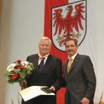 Ministerpräsident a.D. Matthias Platzeck mit Gerold Schellstede