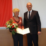 Ministerpräsident Dietmar Woidke mit Prof. Dr. Gesine Schwan