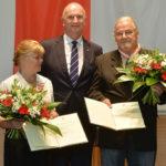 Landesordensträger Gisela und Hans-Peter Freimark mit Ministerpräsident Dietmar Woidke, Foto Oliver Lang