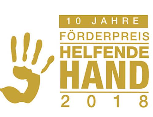 """Jetzt bewerben für den Förderpreis """"Helfende Hand 2018"""""""
