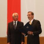 Ministerpräsident a.D. Matthias Platzeck mit Hans-Dietrich Fiebig