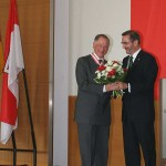 Ministerpräsident a.D. Matthias Platzeck mit Dr. Hermann Freiherr von Richthofen