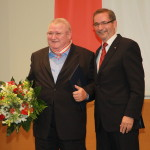 Ministerpräsident a.D. Matthias Platzeck mit Horst Krause