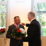 Ministerpräsident Dietmar Woidke mit Horst Schüler