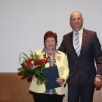 Ministerpräsident Dietmar Woidke mit Inga-Karina Ackermann