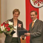 Ministerpräsident a.D. Matthias Platzeck mit Kathrin Boron