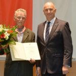 Landesordensträgerin Klaus Winfried Böhmer mit Ministerpräsident Dietmar Woidke, Foto Oliver Lang