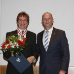 Ministerpräsident Dietmar Woidke mit Konrad Elmer-Herzig