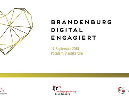 Save the Date: BRANDENBURG DIGITAL ENGAGIERT – Wie Digitalisierung das Ehrenamt verändert