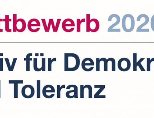 """Jetzt noch bewerben für Wettbewerb """"Aktiv für Demokratie und Toleranz"""""""