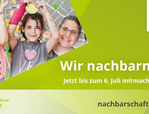 Startschuss für den Deutschen Nachbarschaftspreis 2020: Jetzt bis 06. Juli bewerben!