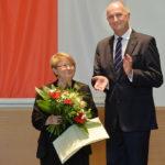 Landesordensträgerin Prof. Dr. Sieglinde Heppener mit Ministerpräsident Dietmar Woidke, Foto Oliver Lang