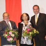 Ministerpräsident a.D. Matthias Platzeck mit Regine und Norbert Hoffmann