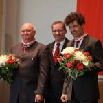 Ministerpräsident a.D. Matthias Platzeck mit Reinhard Simon und Warcislaw Kunc