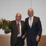 Ministerpräsident Dietmar Woidke mit Roger Bordage