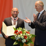 Landesordensträger Ronald Rauhe mit Ministerpräsident Dietmar Woidke, Foto Oliver Lang