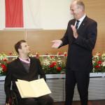 Ministerpräsident Dietmar Woidke mit Ronny Ziesmer