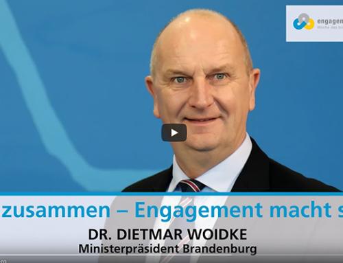 """""""Wir zusammen – Engagement macht stark!"""" – Videobotschaft des Ministerpräsidenten Dietmar Woidke"""