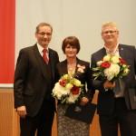 Ministerpräsident a.D. Matthias Platzeck mit Simone Weber-Karpinski und Hendrik Karpinski