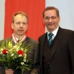 Ministerpräsident a.D. Matthias Platzeck mit Thomas Wernicke