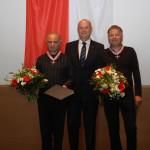 Ministerpräsident Dietmar Woidke mit Tobias Morgenstern und Thomas Rühmann