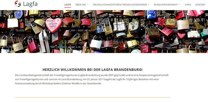 Screenshot www.lagfa-brandenburg.de