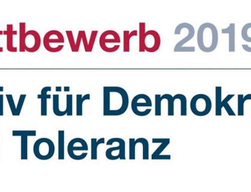 """Jetzt noch am Wettbewerb """"Aktiv für Demokratie und Toleranz"""" teilnehmen"""