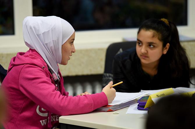 Flüchtlingskinder in einer Kirchengemeinde, Foto: picture alliance / dpa