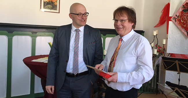 Chef der Staatskanzlei Thomas Kralinski (li.) und Klaus Pirow
