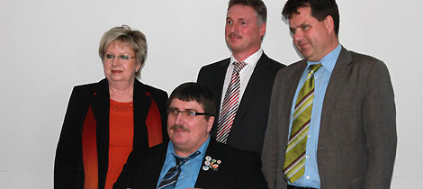 Ehrenamtler des Monates April 2013 Ingo Jeschke (vorne)