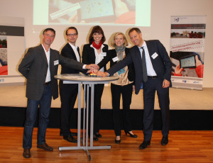 Startschuss zur tabFUTURE (v.l.n.r. Jens Knabe, Alexander Leffers, Ilona Masche, Franziska Leupelt, Dr. Dr. Mario Tobias)